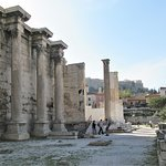 Wall and columns on site of Hadrian's Library.