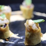 Vegetable Spring Roll and Prawn Tartar