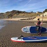 Charmouth Beach winter paddle