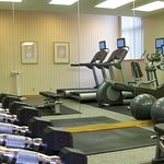 Brand name equipment in 24-hour fitness room