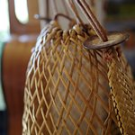 A wicker basket made for the beach.