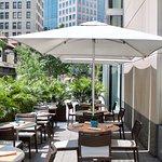 Andys Wine Bar patio along Fifth Avenue