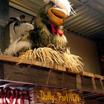 Animatronic chicken performer at Frizzle Chicken Farmhouse Café, Pigeon Forge, TN