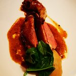 Piccione - foie gras – mele – cipolle rosse