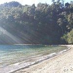 Playa del Lago Espejo Chico hacia la derecha