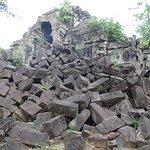 unrestored crumbling ruin