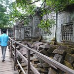 walkway through ruins