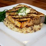 Swordfish, mushroom risotto, sautéed broccolini, Seasonal Seafood Special, winter 2018