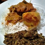 Rice, mutton and mocha