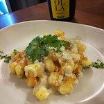 Gnocco di patate con zucca e gorgonzola