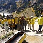 Före lastning av gruvtåget