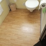 A nice sticky floor to complement the room.