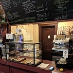 Cafe & A'more features espresso drinks, home made baked goods, breakfast sandwiches & champagne!  Open daily from 7-11am.