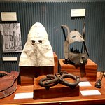 The hoods, chains and truncheons used for prisoners condemned to hang