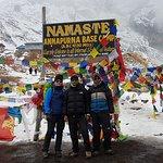 Reach the basecamp;  Me, Shiva and Ram