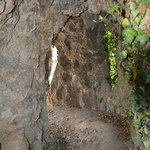 Path way to the cave like grotto