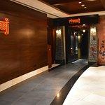 Rivaaj Indian Restaurant's majestic entrance on the ground floor of Sofitel Bahrain Zallaq Thalassa Sea & Spa.