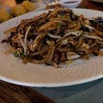 chicken tapioca noodles with black garlic