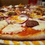 Пицца на тонком ржаном тесте