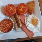 My vege breakfast - perfect runny fried egg