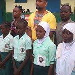 In gambia school visit