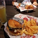 Bleu Ribbon Burger & Fries with Schlafly White Lager