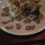 The wagu beef with a generous serving of sliced FRESH truffles.
