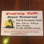 Foto de Sunset Restaurant
