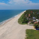 Drone view of our stretch of beach