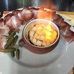 camembert au four flambé au Calvados  !