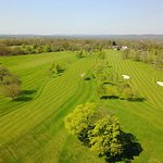 1st and 9th hole of the Championship Course from above