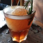 -Rosemary Blue Berry Old Fashioned