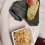 Chicken roll up with quinoa salad