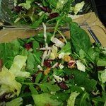 Look REALLY close, maybe, just maybe you can find the Gorgonzola and walnuts this $8.75 salad is supposed to have