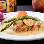 Shrimp & Grits!! Fried grit patty that will blow you away!!