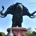 the 3-head elephant statue
