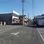 店先の雰囲気(遠くに福島天満宮の銀杏が写っています)