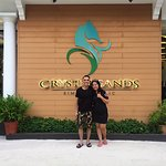 In front of the Crystal sands Beach Hotel