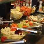 Buffet de saladas.