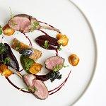 Herdwick lamb (rack, loin, confit belly), heritage beetroot, girolles