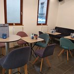 upstairs of jimmy boss waffles nice, hot, and spacious. you can enjoy the best waffles fresh turkish tea, cofee  hot chocolate, ore cold beverages. and enjoy fondness with your friends. ore you can play uno card game...