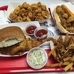 Fried Lunch - Calamari, Oyster Po Boy, French Fries, Cod Sandwich