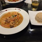 Penang Shrimp Curry, with Brown Rice