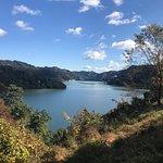 神流湖です