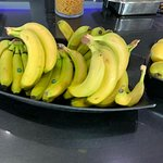 I guess the bananas couldn't make it all the way from the buffet to the bar on their own.