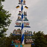 The Bavarian Maypole .... find one in every town advertising what the town has to offer. The photo shows what  the market has to offer.
