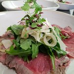 Sumptuous steak salad at The Royal Windsor