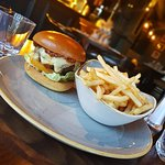 Enjoy a burger and a beer for just £1095 every Wednesday. Veggie and gluten free options available.