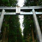 入口の大鳥居。扁額には冨士山と書かれてます。