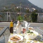 Lake view dining